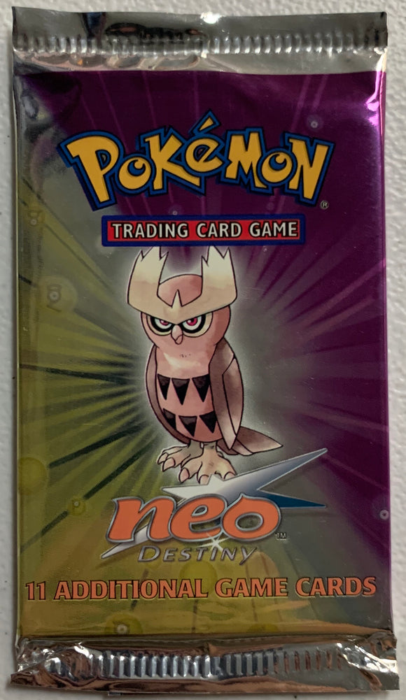 Pokemon Neo Destiny Booster-Pack (Noctowl Art)
