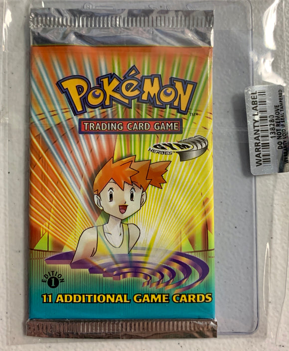 Pokemon Gym Heroes 1st Booster-Pack (Misty Art)