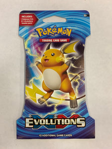 Pokemon XY Evolutions Blister Booster-Pack Sealed (Raichu Artwork)