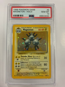 Pokemon PSA 10 Magneton 9/102 Holo Base Set 1999 Gem Mint