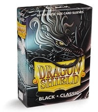 Dragon Shield Classic Japanese Sleeves - Black (60-Pack) SMALL