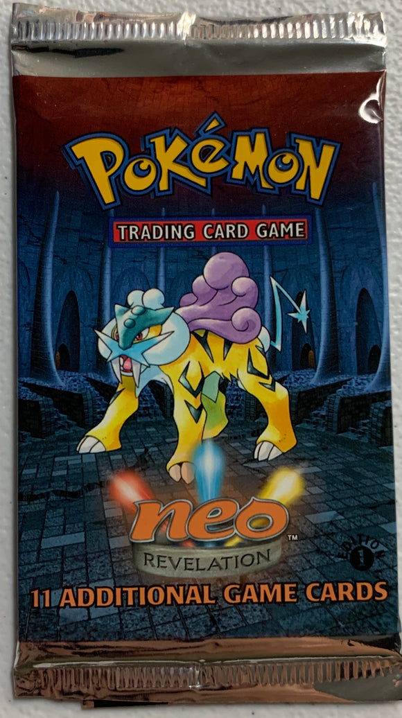 Pokemon Neo Revelation 1st Edition Booster-Pack (Raikou Art)
