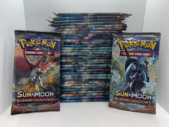 Pokemon Sun & Moon Burning Shadows 36 Packs (Loose) All Sealed = 1 Box