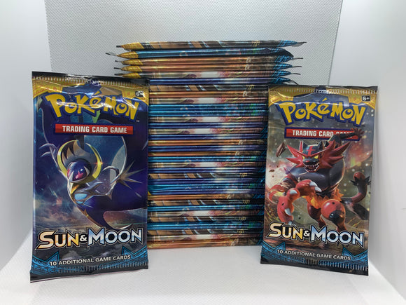 Pokemon Sun & Moon Base Set 36 Packs (Loose) All Sealed = 1 Box
