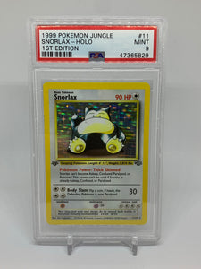 Pokemon PSA 9 Snorlax 11/64 Holo Jungle 1st First Edition 1999 Mint