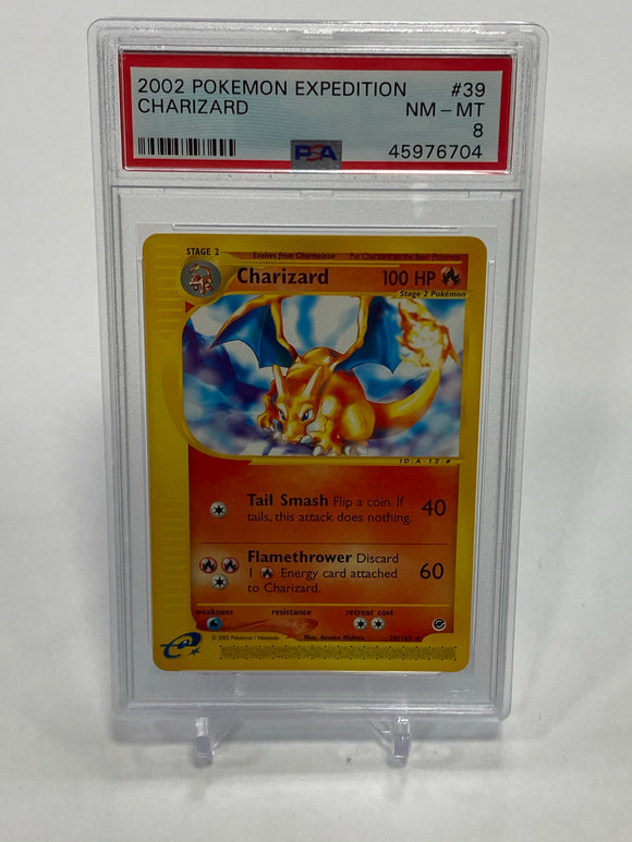Pokemon PSA 8 Charizard 39/165 Expedition 2002 NM-Mint