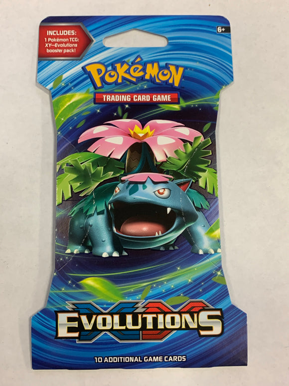 Pokemon XY Evolutions Blister Booster-Pack Sealed (Venusaur Artwork)