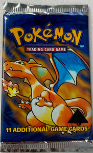 Pokemon Base Set 1st Edition Triangle Error Misprint Booster-Pack (Charizard Art)