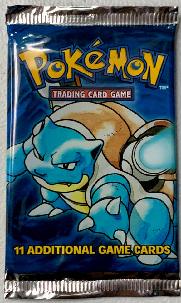 Pokemon Base Set Booster-Pack (Blastoise Art)