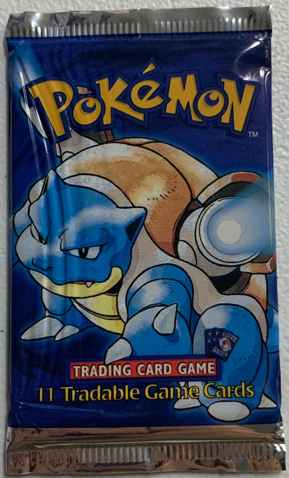 Pokemon Base Set Shadowless? Booster-Pack (Blastoise Art)