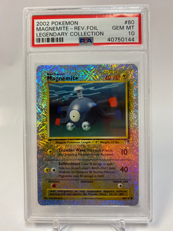 Pokemon PSA 10 Magnemite Reverse Holo Legendary Collection 2002 Gem 💎 Mint