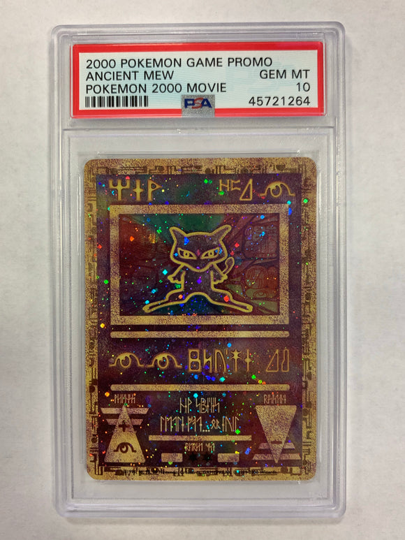 Pokemon PSA 10 GEM MINT Ancient Mew Holo Game Movie Promo 2000