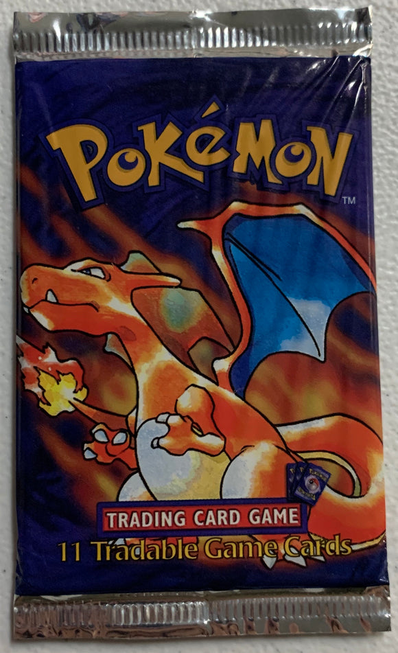 Pokemon Base Set Shadowless? Booster-Pack (Charizard Art)
