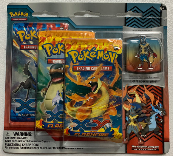 Pokemon XY Flashfire & XY Base Set Blister 3 Booster-Packs Sealed