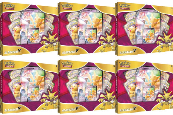 Pokemon Alakazam V Box CASE of 6 (PREORDER 1/08/21)