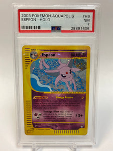 Pokemon PSA 7 Espeon H9/H32 Holo Aquapolis 2003 NM