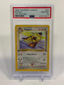 Pokemon PSA 10 Pidgeot 24/64 1st Edition Jungle 1999 Gem Mint