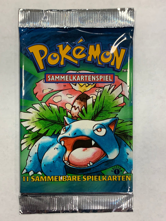 Pokemon *German* Base Set 1st Edition Booster-Pack (Venusuar Artwork)