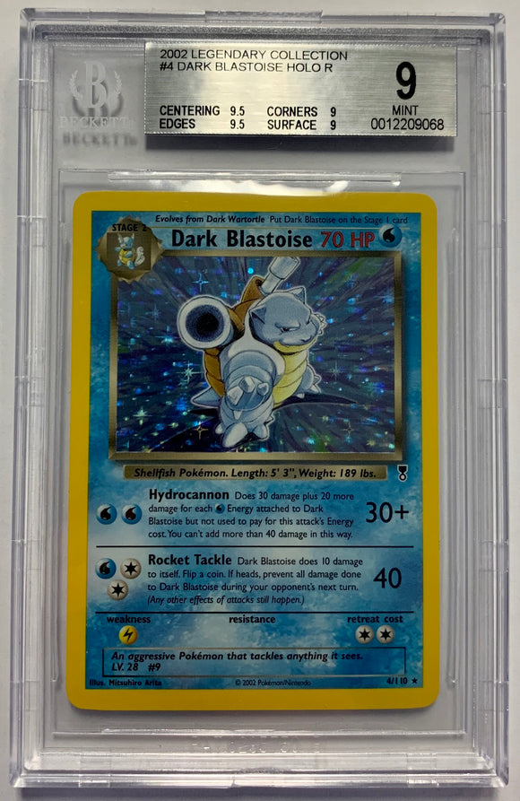 Pokemon BGS 9 Dark Blastoise 4/110 Holo Legendary Collection Mint