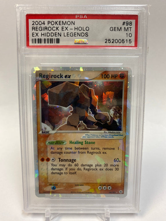Pokemon PSA 10 Regirock EX 98/101 Holo Hidden Legends 2004 Gem Mint