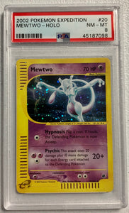 Pokemon PSA 8 Mewtwo 20/165 Holo Expedition 2002 NM-MT