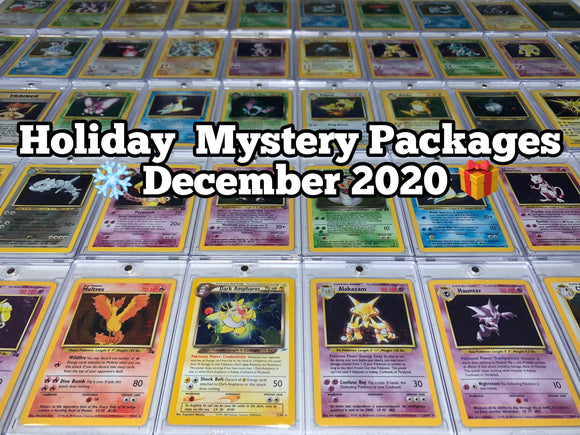 Holiday Mystery Package - December 2020!  Includes 1 Vintage Holo, WOTC Promos, Packs & More!