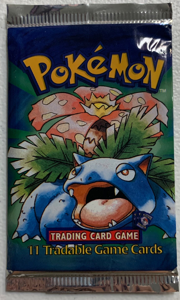 Pokemon Base Set Shadowless? Booster-Pack (Venusaur Art)