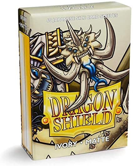 Dragon Shield Matte Japanese Sleeves - Ivory (60-Pack) SMALL