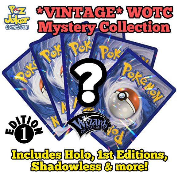 (Random) Vintage WOTC Mystery COLLECTION!  Includes Holo, Shadowless, 1st Editions, & more!