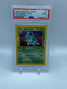 Pokemon PSA 9 Nidoqueen 7/64 Holo Jungle First Edition 1999 Mint
