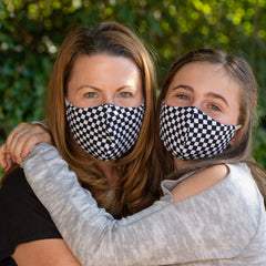 BooginHead face masks adult and youth Black and white checkerboard