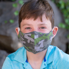 BooginHead face mask for kids in camo