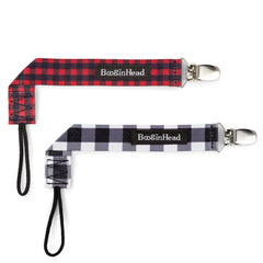BooginHead plaid pacifier clips