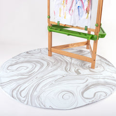 child art easel on BooginHead SplatMat