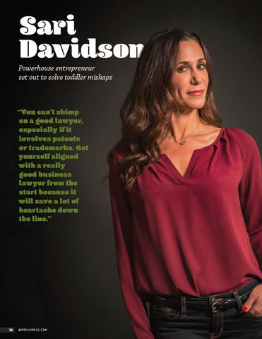 Sari Davidson 425 Business Magazine article cover