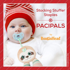 Baby using BooginHead PaciPal Sloth