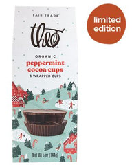 Theo Chocolate peppermint cocoa cups holiday