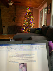 blogger's view of christmas tree