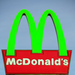 McDonald's arches but they're green