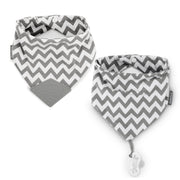 2-Pack Bandana Teether & PaciGrip Bibs, various colors