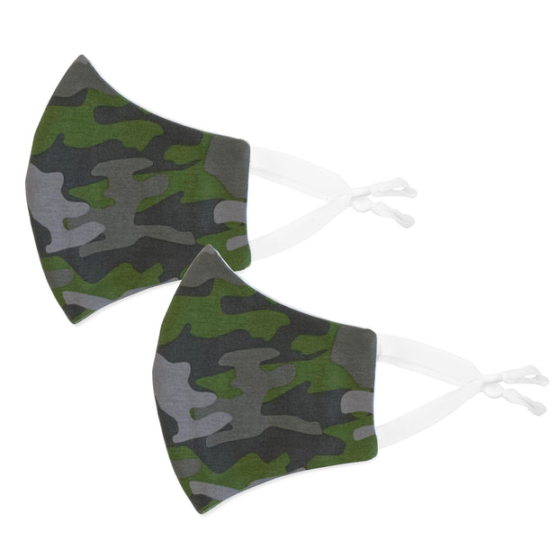2 pack of adjustable BooginHead Face Masks in Camo
