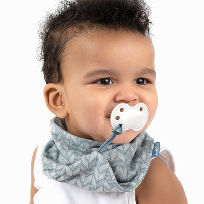NEW! 2-Pack Pacifier Holder PaciGrip Bibs, various colors