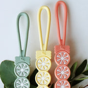 NEW! Silicone Citrus Pacifier Clips, Lemon, Lime, & Grapefruit