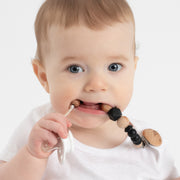 NEW! Wood Beaded Teething Pacifier Clips, various colors