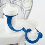 BooginHead SippiGrip Silicone in royal blue, strap to hold a sippy cup, bottle or toy, with soothing teething bumps.