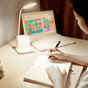 4-IN-1 USB Rechargeable LED Desk Lamp Touch Dimming Setting Table Lamp - Alilight.net