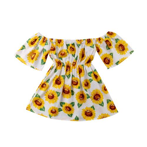 1-6Y Toddler Kid Baby Girls Dress Summer Casual Cotton - Alilight.net