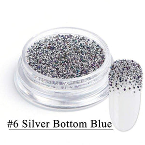 1 Box Mixed 3D Crystal Nail Rhinestone Shiny Glass Mini Small Beads Nail Art - Alilight.net