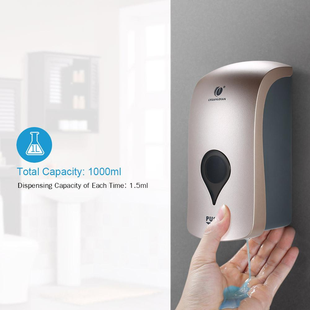 1000ml Wall Mounted Soap Dispenser Shower Gel Liquid Shampoo - Alilight.net