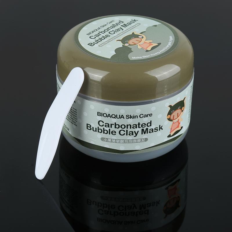 100ml Carbonated Clay Bubble Mask Face Black Facial Mask - Alilight.net